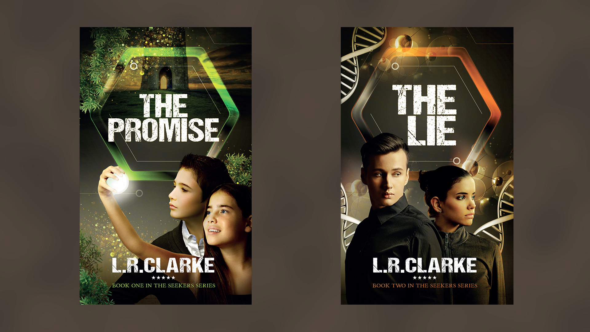 Promise and Lie Book Covers Combined